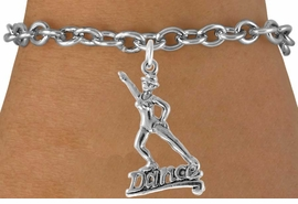 "<bR>                  EXCLUSIVELY OURS!!<Br>            AN ALLAN ROBIN DESIGN!!<BR>   CLICK HERE TO SEE 120+ EXCITING<BR>      CHANGES THAT YOU CAN MAKE!<BR>                 LEAD & NICKEL FREE!!<BR>          W834SB - ""DANCE"" CHARM<Br>      BRACELET FROM $4.50 TO $8.35"
