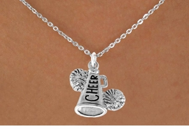 "<bR>               EXCLUSIVELY OURS!!<Br>         AN ALLAN ROBIN DESIGN!!<BR>CLICK HERE TO SEE 120+ EXCITING<BR>   CHANGES THAT YOU CAN MAKE!<BR>              LEAD & NICKEL FREE!!<BR>   W835SN - ""CHEER"" MEGAPHONE<Br>   NECKLACE FROM $4.50 TO $8.35<BR>                               �2011"