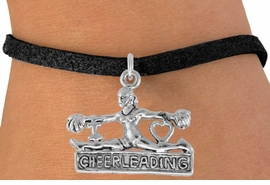 "<bR>                  EXCLUSIVELY OURS!!<Br>            AN ALLAN ROBIN DESIGN!!<BR>   CLICK HERE TO SEE 120+ EXCITING<BR>      CHANGES THAT YOU CAN MAKE!<BR>                 LEAD & NICKEL FREE!!<BR>      W837SB - ""I LOVE CHEERLEADING"" <Br>CHARM BRACELET FROM $4.50 TO $8.35"
