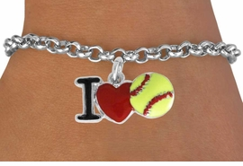 "<bR>               EXCLUSIVELY OURS!!<BR>         AN ALLAN ROBIN DESIGN!!<BR>CLICK HERE TO SEE 120+ EXCITING<BR>   CHANGES THAT YOU CAN MAKE!<BR>              LEAD & NICKEL FREE!!<BR>    W841SB - ""I LOVE SOFT BALL""<Br>  BRACELET FROM $4.50 TO $8.35<BR>                              ©2011"