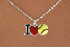 "<bR>               EXCLUSIVELY OURS!!<BR>         AN ALLAN ROBIN DESIGN!!<BR>CLICK HERE TO SEE 120+ EXCITING<BR>   CHANGES THAT YOU CAN MAKE!<BR>              LEAD & NICKEL FREE!!<BR>    W841SN - ""I LOVE SOFT BALL""<Br>  NECKLACE FROM $4.50 TO $8.35<BR>                              ©2011"
