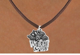 "<bR>               EXCLUSIVELY OURS!!<BR>         AN ALLAN ROBIN DESIGN!!<BR>CLICK HERE TO SEE 120+ EXCITING<BR>   CHANGES THAT YOU CAN MAKE!<BR>              LEAD & NICKEL FREE!!<BR>     W843SN - ""WE'VE GOT SPIRIT""<Br>  NECKLACE FROM $4.50 TO $8.35"