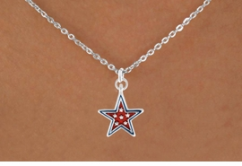 "<bR>               EXCLUSIVELY OURS!!<Br>         AN ALLAN ROBIN DESIGN!!<BR>CLICK HERE TO SEE 120+ EXCITING<BR>   CHANGES THAT YOU CAN MAKE!<BR> W729SN - RED ""PATRIOTIC STAR""<Br>        CHARM & NECKLACE FROM<Br>                     $4.50 TO $8.35"
