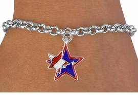 "<bR>               EXCLUSIVELY OURS!!<Br>         AN ALLAN ROBIN DESIGN!!<BR>CLICK HERE TO SEE 120+ EXCITING<BR>   CHANGES THAT YOU CAN MAKE!<BR>   W736SB - ""PATRIOTIC 2-STAR""<Br>        CHARM & BRACELET FROM<Br>                     $4.50 TO $8.35"