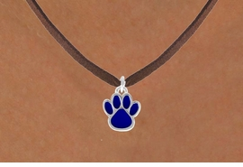 <bR>                 EXCLUSIVELY OURS!!<Br>           AN ALLAN ROBIN DESIGN!!<BR>  CLICK HERE TO SEE 500+ EXCITING<BR>     CHANGES THAT YOU CAN MAKE!<BR>                LEAD & NICKEL FREE!!<BR>    W748SN - MEDIUM BLUE PAW &<BR>     NECKLACE FROM $4.50 TO $8.35