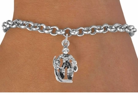<bR>                 EXCLUSIVELY OURS!!<Br>           AN ALLAN ROBIN DESIGN!!<BR>  CLICK HERE TO SEE 500+ EXCITING<BR>     CHANGES THAT YOU CAN MAKE!<BR>                LEAD & NICKEL FREE!!<BR>             W757SB � HOCKEY GUARD<Br>     BRACELET FROM $4.50 TO $8.35