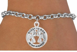 <bR>                    EXCLUSIVELY OURS!!<Br>              AN ALLAN ROBIN DESIGN!!<BR>  CLICK HERE TO SEE 500+ EXCITING<BR>     CHANGES THAT YOU CAN MAKE!<BR>                LEAD & NICKEL FREE!!<BR> W758SB - GLORY TO GOD IN THE HIGHEST<Br>         BRACELET FROM $4.50 TO $8.35