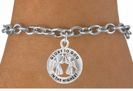 <bR>                    EXCLUSIVELY OURS!!<Br>              AN ALLAN ROBIN DESIGN!!<BR>  CLICK HERE TO SEE 500+ EXCITING<BR>     CHANGES THAT YOU CAN MAKE!<BR>                LEAD & NICKEL FREE!!<BR> W758SB � GLORY TO GOD IN THE HIGHEST<Br>         BRACELET FROM $4.50 TO $8.35