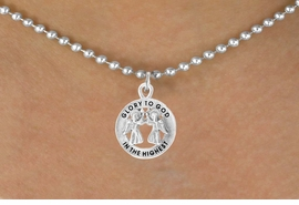 <bR>                 EXCLUSIVELY OURS!!<Br>           AN ALLAN ROBIN DESIGN!!<BR>  CLICK HERE TO SEE 500+ EXCITING<BR>     CHANGES THAT YOU CAN MAKE!<BR>                LEAD & NICKEL FREE!!<BR>           W758SN - GLORY TO GOD <br>           IN THE HIGHEST NECKLACE <br>               FROM $4.05 TO $7.50