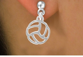 <bR>                    EXCLUSIVELY OURS!!<Br>              AN ALLAN ROBIN DESIGN!!<BR>  CLICK HERE TO SEE 500+ EXCITING<BR>     CHANGES THAT YOU CAN MAKE!<BR>                LEAD & NICKEL FREE!!<BR>     W762SE - CUT OUT VOLLEYBALL <BR>    EARRINGS FROM $4.50 TO $8.35