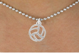 <bR>                 EXCLUSIVELY OURS!!<Br>           AN ALLAN ROBIN DESIGN!!<BR>  CLICK HERE TO SEE 500+ EXCITING<BR>     CHANGES THAT YOU CAN MAKE!<BR>                LEAD & NICKEL FREE!!<BR>  W762SN -CUT OUT VOLLEYBALL CHARM <BR>          NECKLACE FROM $4.50 TO $8.35