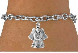 <bR>                    EXCLUSIVELY OURS!!<Br>              AN ALLAN ROBIN DESIGN!!<BR>  CLICK HERE TO SEE 500+ EXCITING<BR>     CHANGES THAT YOU CAN MAKE!<BR>                LEAD & NICKEL FREE!!<BR>       W765SB - SWEET ANGEL CHARM<Br>        BRACELET FROM $4.50 TO $8.35