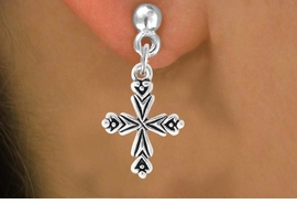 <bR>                    EXCLUSIVELY OURS!!<Br>              AN ALLAN ROBIN DESIGN!!<BR>  CLICK HERE TO SEE 500+ EXCITING<BR>     CHANGES THAT YOU CAN MAKE!<BR>                LEAD & NICKEL FREE!!<BR>      W766SE - ORNATE CROSS CHARM <BR>      EARRINGS FROM $4.50 TO $8.35
