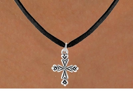 <bR>                 EXCLUSIVELY OURS!!<Br>           AN ALLAN ROBIN DESIGN!!<BR>  CLICK HERE TO SEE 500+ EXCITING<BR>     CHANGES THAT YOU CAN MAKE!<BR>                LEAD & NICKEL FREE!!<BR>  W766SN - ORNATE CROSS CHARM <BR>        NECKLACE FROM $4.50 TO $8.35