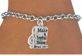 <bR>                    EXCLUSIVELY OURS!!<Br>              AN ALLAN ROBIN DESIGN!!<BR>  CLICK HERE TO SEE 500+ EXCITING<BR>     CHANGES THAT YOU CAN MAKE!<BR>                LEAD & NICKEL FREE!!<BR>       W767SB � MAKE A JOYFUL NOISE CHARM<Br>        BRACELET FROM $4.50 TO $8.35