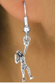<bR>                    EXCLUSIVELY OURS!!<Br>              AN ALLAN ROBIN DESIGN!!<BR>  CLICK HERE TO SEE 500+ EXCITING<BR>     CHANGES THAT YOU CAN MAKE!<BR>                LEAD & NICKEL FREE!!<BR>     W771SE - SERVING VOLLEYBALL <BR>             PLAYER CHARM EARRINGS <BR>                 FROM $4.50 TO $8.35