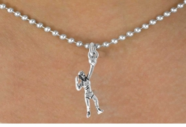 <bR>                 EXCLUSIVELY OURS!!<Br>           AN ALLAN ROBIN DESIGN!!<BR>  CLICK HERE TO SEE 500+ EXCITING<BR>     CHANGES THAT YOU CAN MAKE!<BR>                LEAD & NICKEL FREE!!<BR>  W771SN - SERVING VOLLEYBALL <BR>         PLAYER CHARM NECKLACE <BR>             FROM $4.50 TO $8.35