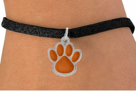 <bR>               EXCLUSIVELY OURS!!<Br>         AN ALLAN ROBIN DESIGN!!<BR>CLICK HERE TO SEE 500+ EXCITING<BR>   CHANGES THAT YOU CAN MAKE!<BR>              LEAD & NICKEL FREE!!<BR>    W784SB - LARGE ORANGE PAW &<Br>   BRACELET FROM $4.50 TO $8.35