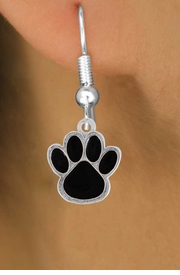 <bR>                EXCLUSIVELY OURS!!<Br>         AN ALLAN ROBIN DESIGN!!<BR>CLICK HERE TO SEE 500+ EXCITING<BR>   CHANGES THAT YOU CAN MAKE!<BR>              LEAD & NICKEL FREE!!<BR>   W786SE - MEDIUM BLACK PAW &<BR>   EARRINGS FROM $4.50 TO $8.35