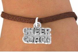 "<bR>                  EXCLUSIVELY OURS!!<Br>            AN ALLAN ROBIN DESIGN!!<BR>   CLICK HERE TO SEE 500+ EXCITING<BR>      CHANGES THAT YOU CAN MAKE!<BR>                 LEAD & NICKEL FREE!!<BR>      W838SB - ""CHEER COACH"" CHARM<Br>        BRACELET FROM $4.50 TO $8.35"