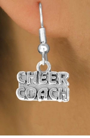 "<bR>                  EXCLUSIVELY OURS!!<Br>            AN ALLAN ROBIN DESIGN!!<BR>   CLICK HERE TO SEE 500+ EXCITING<BR>      CHANGES THAT YOU CAN MAKE!<BR>                 LEAD & NICKEL FREE!!<BR>        W838SE - ""CHEER COACH"" CHARM<Br>    EARRINGS FROM $4.50 TO $8.35"