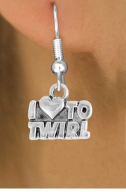 "<bR>               EXCLUSIVELY OURS!!<BR>         AN ALLAN ROBIN DESIGN!!<BR>CLICK HERE TO SEE 500+ EXCITING<BR>   CHANGES THAT YOU CAN MAKE!<BR>              LEAD & NICKEL FREE!!<BR>        W904SE - ""I LOVE TO TWIRL""<Br>  EARRINGS FROM $4.50 TO $8.35"