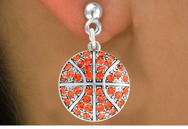 <bR>               EXCLUSIVELY OURS!!<BR>         AN ALLAN ROBIN DESIGN!!<BR>CLICK HERE TO SEE 500+ EXCITING<BR>   CHANGES THAT YOU CAN MAKE!<BR>              LEAD & NICKEL FREE!!<BR>     W906SE - AUSTRIAN CRYSTAL<Br>   BASKETBALL CHARM  EARRINGS<Br>              FROM $5.65 TO $10.00