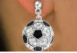 <bR>               EXCLUSIVELY OURS!!<BR>         AN ALLAN ROBIN DESIGN!!<BR>CLICK HERE TO SEE 500+ EXCITING<BR>   CHANGES THAT YOU CAN MAKE!<BR>              LEAD & NICKEL FREE!!<BR>     W908SE - AUSTRIAN CRYSTAL<Br> SOCCER BALL CHARM  EARRINGS<Br>              FROM $5.65 TO $10.00