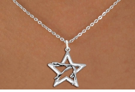 <bR>               EXCLUSIVELY OURS!!<BR>         AN ALLAN ROBIN DESIGN!!<BR>CLICK HERE TO SEE 600+ EXCITING<BR>   CHANGES THAT YOU CAN MAKE!<BR>      CADMIUM,  LEAD & NICKEL FREE!! <BR>W1307SN -  SILVER TONE GYMNAST <Br>POSED IN STAR CHARM  & NECKLACE <BR>      FROM $4.50 TO $8.35 �2012