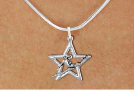 <bR>               EXCLUSIVELY OURS!!<BR>         AN ALLAN ROBIN DESIGN!!<BR>CLICK HERE TO SEE 600+ EXCITING<BR>   CHANGES THAT YOU CAN MAKE!<BR>      CADMIUM,  LEAD & NICKEL FREE!! <BR>W1311SN -  SILVER TONE GYMNAST <Br>POSED IN STAR CHARM  & NECKLACE <BR>      FROM $4.50 TO $8.35 �2012