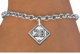 "<bR>                   EXCLUSIVELY OURS!!<BR>             AN ALLAN ROBIN DESIGN!!<BR>    CLICK HERE TO SEE 600+ EXCITING<BR>       CHANGES THAT YOU CAN MAKE!<BR>      LEAD, NICKEL & CADMIUM FREE!! <BR>PLAYERS POSITION AND TEAM NUMBER  <BR>   W1254SB -  ""BASEBALL DIAMOND"" <Br>       SILVER TONE CHARM & BRACELET <BR>          FROM $3.60 TO $8.00 �2012"