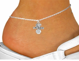 "<bR>               EXCLUSIVELY OURS!!<BR>         AN ALLAN ROBIN DESIGN!!<BR>CLICK HERE TO SEE 600+ EXCITING<BR>   CHANGES THAT YOU CAN MAKE!<BR>LEAD,  NICKEL & CADMIUM FREE!!<BR>         W1020SAK - ""I LOVE SOCCER""<Br>     ANKLET FROM $3.35 TO $8.00"