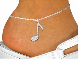 "<bR>                 EXCLUSIVELY OURS!!<BR>           AN ALLAN ROBIN DESIGN!!<BR>  CLICK HERE TO SEE 600+ EXCITING<BR>     CHANGES THAT YOU CAN MAKE!<BR>LEAD, NICKEL & CADMIUM FREE!!<BR>     W1275SAK - ""MUSIC NOTE"" <BR>      CRYSTAL CHARM AND ANKLET <Br>      FROM $5.40 TO $9.85 �2012"