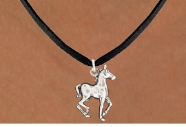 "<bR>               EXCLUSIVELY OURS!!<BR>         AN ALLAN ROBIN DESIGN!!<BR>CLICK HERE TO SEE 600+ EXCITING<BR>   CHANGES THAT YOU CAN MAKE!<BR>              LEAD & NICKEL FREE!!<BR>     W1002SN - ""TROTTING HORSE""<Br>  NECKLACE FROM $4.50 TO $8.35"