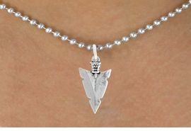 "<bR>               EXCLUSIVELY OURS!!<BR>         AN ALLAN ROBIN DESIGN!!<BR>CLICK HERE TO SEE 600+ EXCITING<BR>   CHANGES THAT YOU CAN MAKE!<BR>              LEAD & NICKEL FREE!!<BR>         W1003SN - ""ARROWHEAD""<Br>  NECKLACE FROM $4.50 TO $8.35"