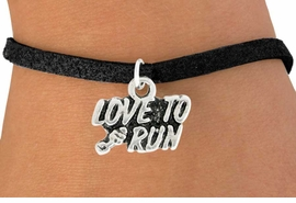 "<bR>               EXCLUSIVELY OURS!!<BR>         AN ALLAN ROBIN DESIGN!!<BR>CLICK HERE TO SEE 600+ EXCITING<BR>   CHANGES THAT YOU CAN MAKE!<BR>              LEAD & NICKEL FREE!!<BR>          W1008SB ""LOVE TO RUN"" <Br>   & BRACELET FROM $4.15 TO $8.00"