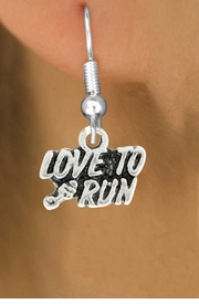 "<bR>               EXCLUSIVELY OURS!!<BR>         AN ALLAN ROBIN DESIGN!!<BR>CLICK HERE TO SEE 600+ EXCITING<BR>   CHANGES THAT YOU CAN MAKE!<BR>              LEAD & NICKEL FREE!!<BR>         W1008SE - ""LOVE TO RUN""<Br>  EARRINGS FROM $4.50 TO $8.35"
