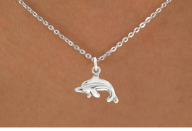 "<bR>               EXCLUSIVELY OURS!!<BR>         AN ALLAN ROBIN DESIGN!!<BR>CLICK HERE TO SEE 600+ EXCITING<BR>   CHANGES THAT YOU CAN MAKE!<BR>              LEAD & NICKEL FREE!!<BR>         W1010SN - ""DOLPHIN""<Br>  NECKLACE FROM $4.50 TO $8.35"