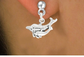 "<bR>               EXCLUSIVELY OURS!!<BR>         AN ALLAN ROBIN DESIGN!!<BR>CLICK HERE TO SEE 600+ EXCITING<BR>   CHANGES THAT YOU CAN MAKE!<BR>              LEAD & NICKEL FREE!!<BR>   W1015SE - ""DOLPHIN AND CALF""<Br>  EARRINGS FROM $4.50 TO $8.35"