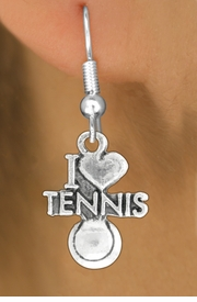 "<bR>               EXCLUSIVELY OURS!!<BR>         AN ALLAN ROBIN DESIGN!!<BR>CLICK HERE TO SEE 600+ EXCITING<BR>   CHANGES THAT YOU CAN MAKE!<BR>              LEAD & NICKEL FREE!!<BR>         W1019SE - ""I LOVE TENNIS""<Br>  EARRINGS FROM $4.50 TO $8.35"
