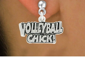 "<bR>               EXCLUSIVELY OURS!!<BR>         AN ALLAN ROBIN DESIGN!!<BR>CLICK HERE TO SEE 600+ EXCITING<BR>   CHANGES THAT YOU CAN MAKE!<BR>              LEAD & NICKEL FREE!!<BR>  W1024SE - ""VOLLEYBALL CHICK""<Br>  EARRINGS FROM $4.50 TO $8.35"