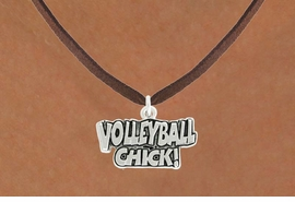 "<bR>               EXCLUSIVELY OURS!!<BR>         AN ALLAN ROBIN DESIGN!!<BR>CLICK HERE TO SEE 600+ EXCITING<BR>   CHANGES THAT YOU CAN MAKE!<BR>              LEAD & NICKEL FREE!!<BR>  W1024SN - ""VOLLEYBALL CHICK""<Br>  NECKLACE FROM $4.50 TO $8.35"