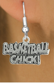 "<bR>               EXCLUSIVELY OURS!!<BR>         AN ALLAN ROBIN DESIGN!!<BR>CLICK HERE TO SEE 600+ EXCITING<BR>   CHANGES THAT YOU CAN MAKE!<BR>              LEAD & NICKEL FREE!!<BR>W1025SE - ""BASKETBALL CHICK""<Br>  EARRINGS FROM $4.50 TO $8.35"