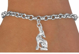 "<bR>               EXCLUSIVELY OURS!!<BR>         AN ALLAN ROBIN DESIGN!!<BR>CLICK HERE TO SEE 600+ EXCITING<BR>   CHANGES THAT YOU CAN MAKE!<BR>              LEAD & NICKEL FREE!!<BR>      W1028SB - ""COYOTE HOWLING"" <Br>   & BRACELET FROM $4.15 TO $8.00"