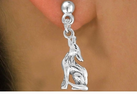 "<bR>               EXCLUSIVELY OURS!!<BR>         AN ALLAN ROBIN DESIGN!!<BR>CLICK HERE TO SEE 600+ EXCITING<BR>   CHANGES THAT YOU CAN MAKE!<BR>              LEAD & NICKEL FREE!!<BR>     W1028SE - ""COYOTE HOWLING""<Br>  EARRINGS FROM $4.50 TO $8.35"
