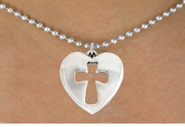 "<bR>               EXCLUSIVELY OURS!!<BR>         AN ALLAN ROBIN DESIGN!!<BR>CLICK HERE TO SEE 600+ EXCITING<BR>   CHANGES THAT YOU CAN MAKE!<BR>              LEAD & NICKEL FREE!!<BR>  W1029SN - ""HEART WITH CROSS""<Br>  NECKLACE FROM $4.50 TO $8.35"