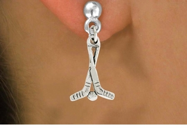 "<bR>               EXCLUSIVELY OURS!!<BR>         AN ALLAN ROBIN DESIGN!!<BR>CLICK HERE TO SEE 600+ EXCITING<BR>   CHANGES THAT YOU CAN MAKE!<BR>              LEAD & NICKEL FREE!!<BR>W1030SE - ""HOCKEY STICKS & PUCK""<Br>  EARRINGS FROM $4.50 TO $8.35"