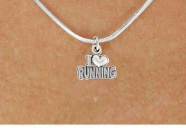 "<bR>               EXCLUSIVELY OURS!!<BR>         AN ALLAN ROBIN DESIGN!!<BR>CLICK HERE TO SEE 600+ EXCITING<BR>   CHANGES THAT YOU CAN MAKE!<BR>              LEAD & NICKEL FREE!!<BR>      W1031SN - ""I LOVE RUNNING""<Br>  NECKLACE FROM $4.50 TO $8.35"