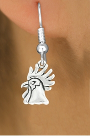 "<bR>               EXCLUSIVELY OURS!!<BR>         AN ALLAN ROBIN DESIGN!!<BR>CLICK HERE TO SEE 600+ EXCITING<BR>   CHANGES THAT YOU CAN MAKE!<BR>              LEAD & NICKEL FREE!!<BR>              W1037SE - ""ROOSTER""<Br>  EARRINGS FROM $4.50 TO $8.35"