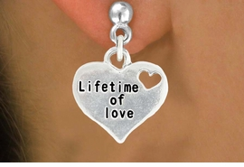 "<bR>               EXCLUSIVELY OURS!!<BR>         AN ALLAN ROBIN DESIGN!!<BR>CLICK HERE TO SEE 600+ EXCITING<BR>   CHANGES THAT YOU CAN MAKE!<BR>              LEAD & NICKEL FREE!!<BR>W1043SE - ""LIFETIME OF LOVE"" HEART<Br>EARRINGS FROM $4.50 TO $8.35 �2011"